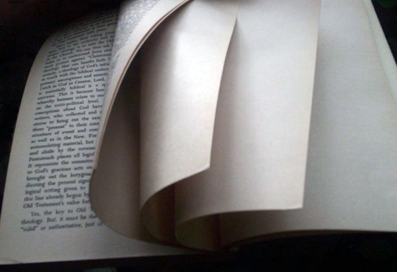 Könyv utolsó lapjai
